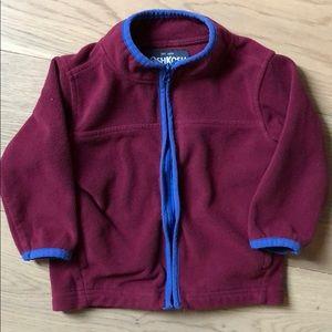 OshKosh B'Gosh Baby Boy Zip Up Maroon Sweater